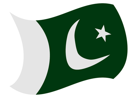 pakistan flag moved by the wind