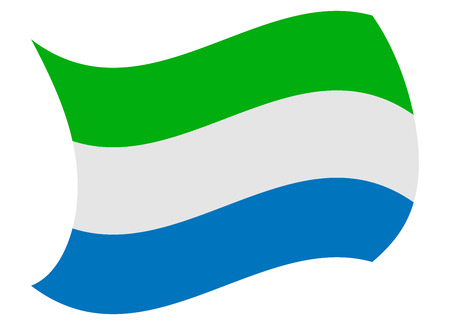 sierra leone flag moved by the wind
