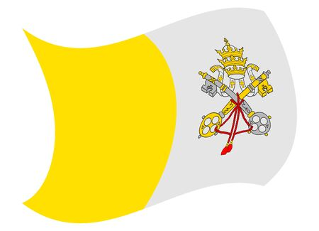 vatican city flag moved by the wind