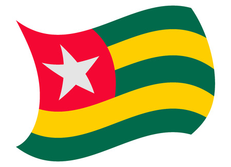 togo flag moved by the wind