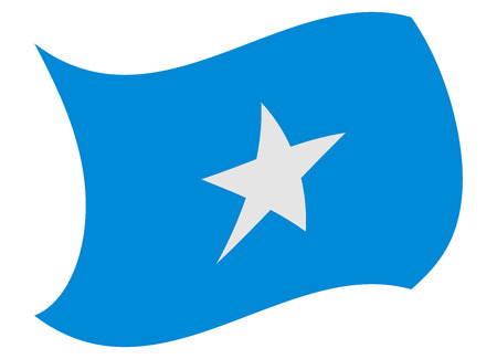 somalia flag moved by the wind