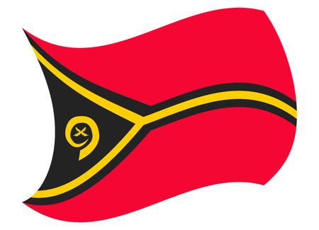 vanuatu flag moved by the wind Illustration