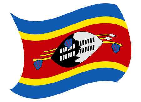 swaziland flag moved by the wind