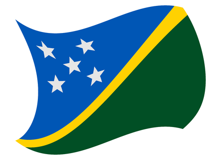 solomon islands flag moved by the wind