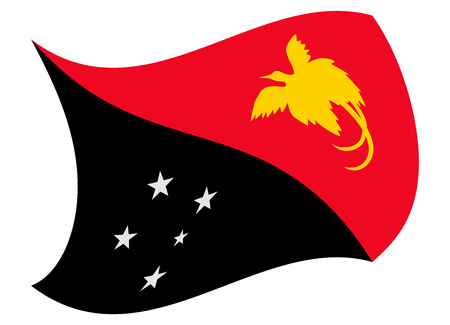 papua new guinea flag moved by the wind