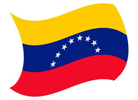 venezuela flag moved by the wind Illustration