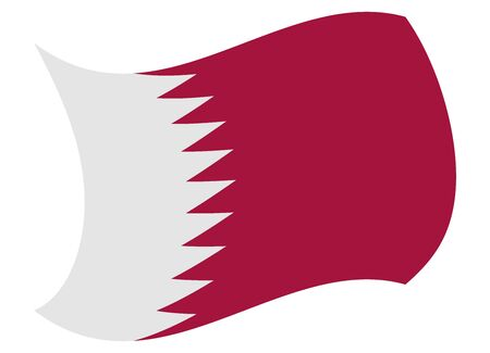 qatar flag moved by the wind Illustration