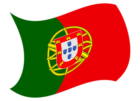 portugal flag moved by the wind