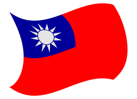 taiwan flag moved by the wind