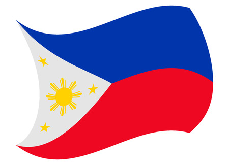philippines flag moved by the wind