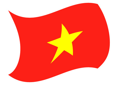 vietnam flag moved by the wind Illustration