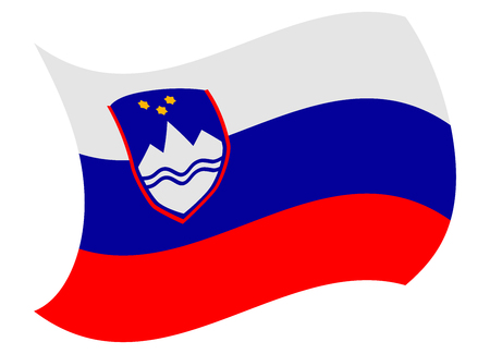 slovenia flag moved by the wind