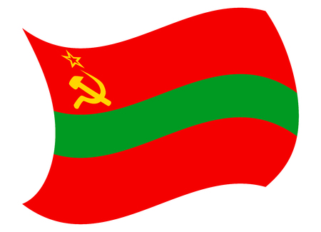 transnistria flag moved by the wind