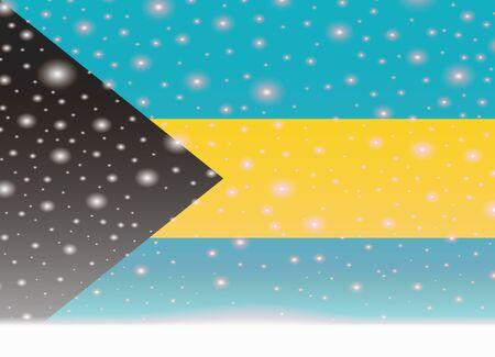 bahamas flag on christmas background