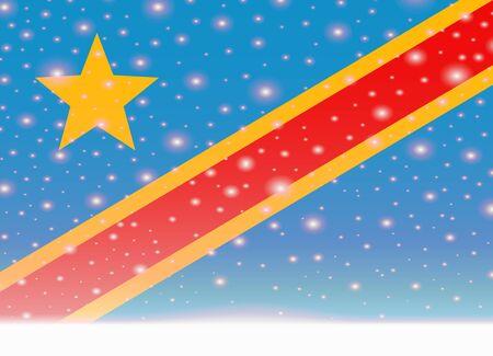 Kongo-Flagge auf Weihnachten Hintergrund Standard-Bild - 89667538
