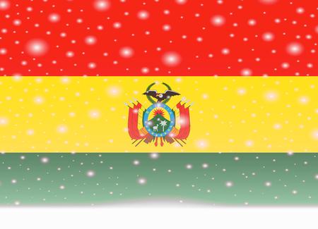 bolivia flag on christmas background