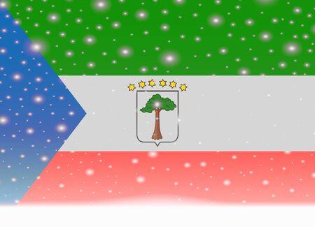 equatorial guinea flag on christmas background