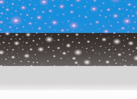 クリスマスの背景にエストニアフラグ