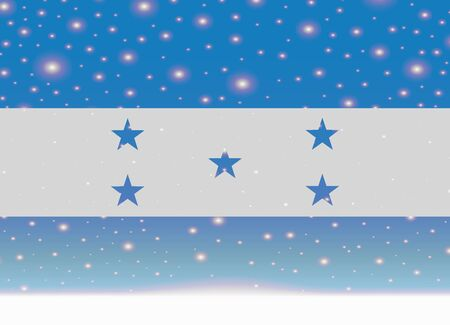 bandera honduras: honduras flag on christmas background Vectores