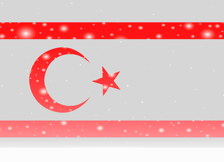 Northern cyprus flag on christmas background Ilustracja