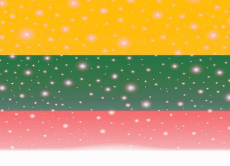 Litouwen vlag op Kerstmis achtergrond