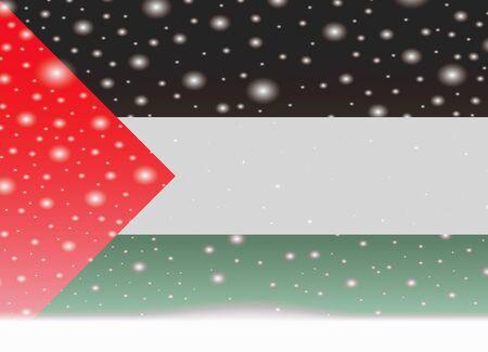 Palestine flag on christmas background