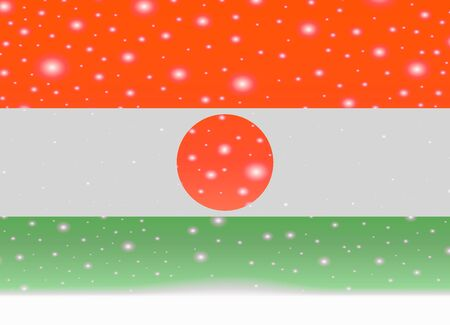 Niger flag on christmas background