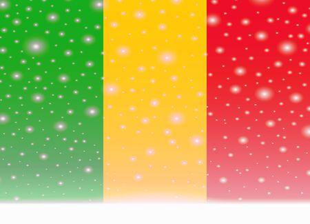 Mali flag on christmas background