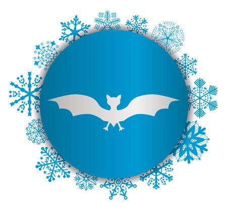 Bat Christmas icon.