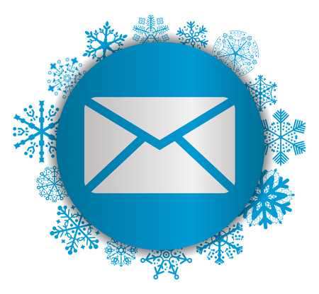 Mail Christmas icon. Illustration
