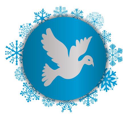 Dove Christmas icon. Illustration