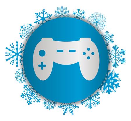 Game Christmas icon. Illustration