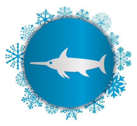 swordfish christmas icon