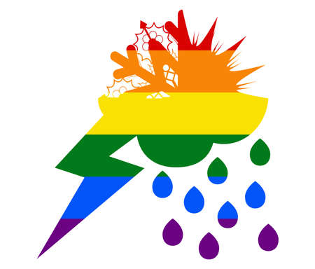 weather LGBT flag. gay, lesbian, and icon vector