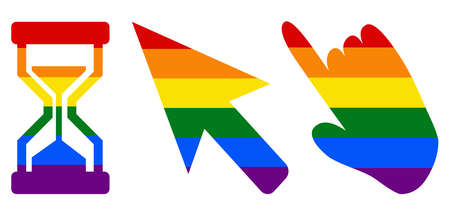 three pointers LGBT flag. gay, lesbian, and icon vector