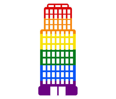 snowflake abstract LGBT flag. gay, lesbian, and icon vector