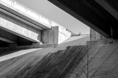 screen savers: underpass abstract black and white Stock Photo