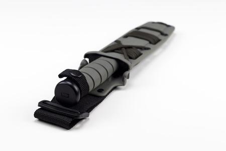 cordage: military combat knife diagonal rear view ka-bar Editorial
