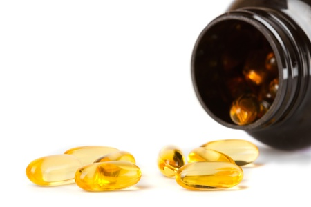 Fish oil - Omega 3 capsules, essential healthcare and medicine products photo
