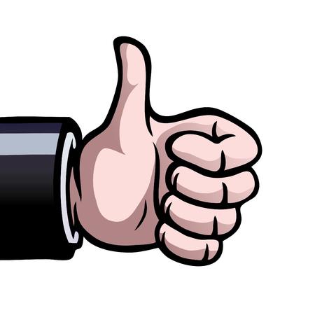 deacuerdo: Una mano que muestra un pulgares como un signo de aprobaci�n.  Vectores