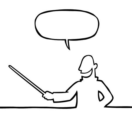 Lehrer mit Zeiger Illustration