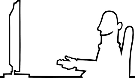 Person watching television Illustration