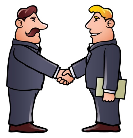 Business men shaking hands Vector