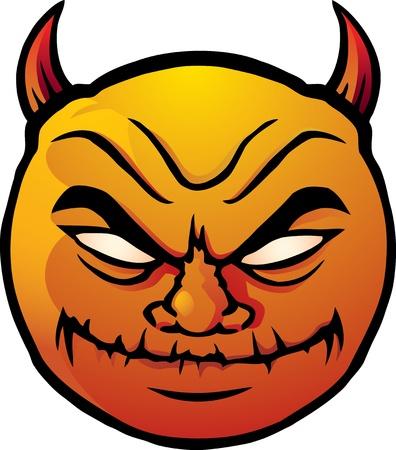 Evil smiley Stock Vector - 9442166