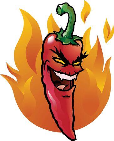 Evil red Chili-schote