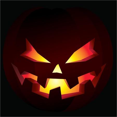calabaza caricatura: Espeluznante calabaza de Halloween Vectores