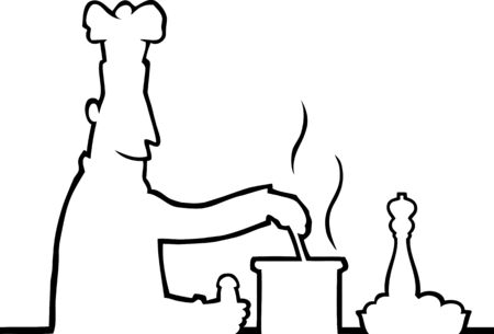 cooking chef: Cooking chef Illustration