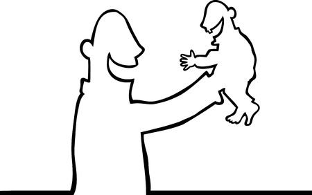 aloft: Person holding a baby