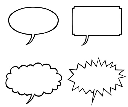 Various speech bubbles