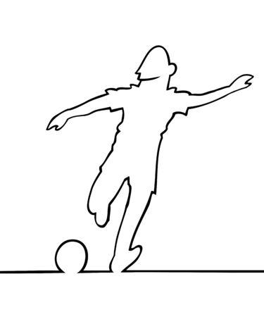 Soccer player kicking the ball Stock Vector - 9654455